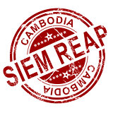 Red Siem Reap stamp