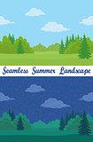 Summer Forest, Seamless Landscapes