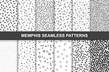Collection of swathces memphis patterns - seamless.