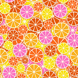Colorful fruit pattern - seamless.