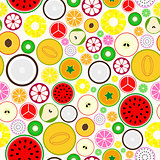 Bright fruit seamless background.