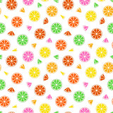Colorful fruit pattern - seamless.