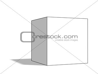 Blank white box with shadow