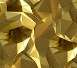 Luxury gold abstract triangle background