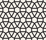 Vector Seamless Black and White Geometric Lace Pattern