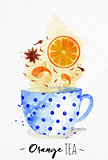 Teacup orange tea