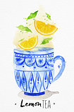 Teacup lemon tea