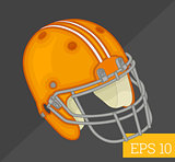 rugby helmet isometric vector illustration