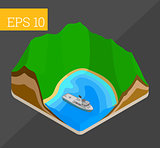 landscape isometric vector illustration