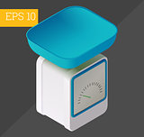 scales isometric vector illustration