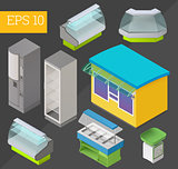 commercial equipment isometric vector illustration