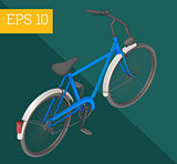 bicycle isometric vector illustration