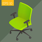 computer chair isometric vector illustration