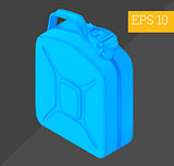 jerrycan isometric vector illustration
