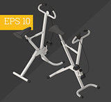 fitness bike isometric vector illustration