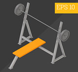 pushups bench isometric vector illustration