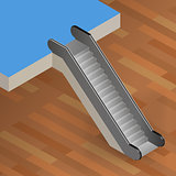 escalator stairway isometric vector illustration