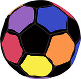 Color futboll ball