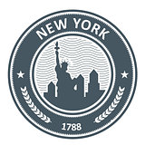 New York stamp with Statue of Liberty