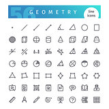 Geometry Line Icons Set