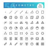 Geometry Line Icons Set