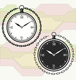 Vintage pocket watch icon template