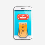 Mobile ticket online service