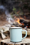 Coffee by a Campfire