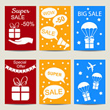 Sale banners vector isolated set