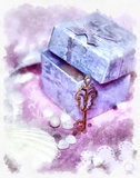 Magic gift box and a key