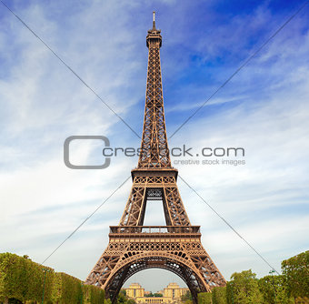 Autumnal Paris with Eiffel Tower