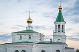 Close view on old orthodox church in Belarus