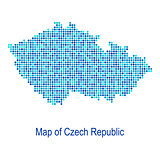 Blue map of czech republic vector