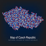 Map of czech republic dot pattern