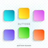 Modern vector blank colorful web buttons