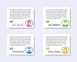 Personal profile business people labels