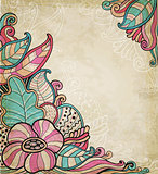 Vintage decorative floral background