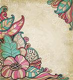 Vintage decorative floral background