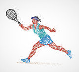 tennis, abstract, player