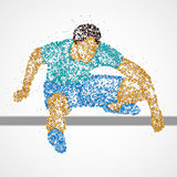 Abstract athlete jump