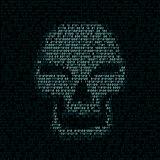 code texture smiled skull