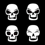 different skull emotions