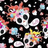 Cool pattern funny skulls