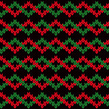 Knitting seamless pattern with interwoven zigzag tapes