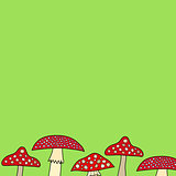 abstract vector doodle mushroom background