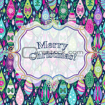 Christmas colorful greeting card