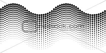 Abstract background halftone wave