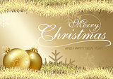 Golden Merry Christmas Greeting
