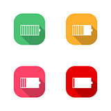 Icons Battery, vector illustration.