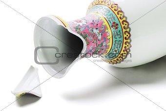 Broken Chinese Vase